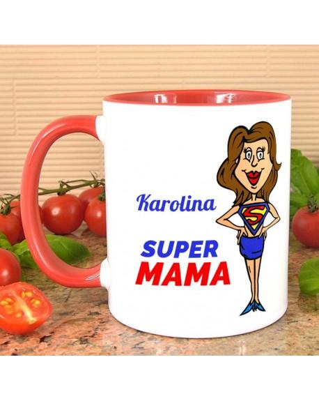 Kubek dla Mamy - Super MAMA - personalizowany prezent