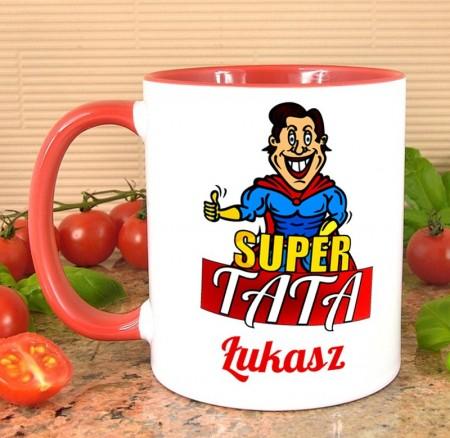 Kubek dla Taty - Super Tata - personalizowany prezent z imieniem