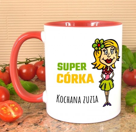 Kubek dla Córki - Super Córka - personalizowany prezent