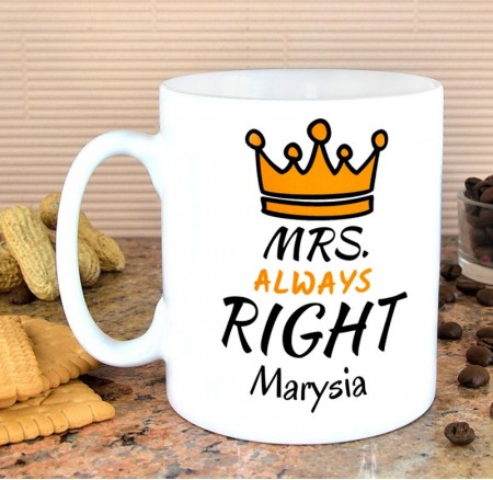 Kubek personalizowany MRS. Always RIGHT