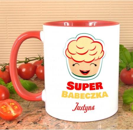 Kubek personalizowany Super Babeczka - prezent dla kobiety
