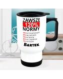 Kubek termiczny 120% Normy - personalizowany
