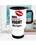 Kubek termiczny MRS RIGHT - personalizowany prezent z imieniem