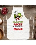 Fartuch kuchenny Najlepszy Facet - personalizowany prezent dla Niego