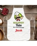 Fartuch kuchenny Najlepszy Tata - personalizowany prezent