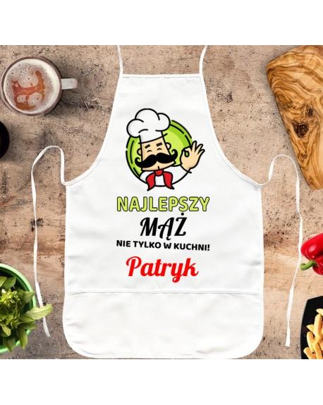 Fartuszek kuchenny Najlepszy Mąż - personalizowany prezent