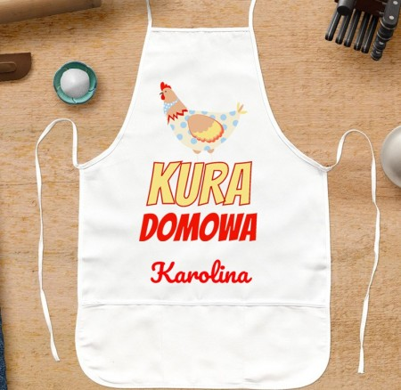 Fartuszek kuchenny Kura Domowa - prezent personalizowany dla Niej