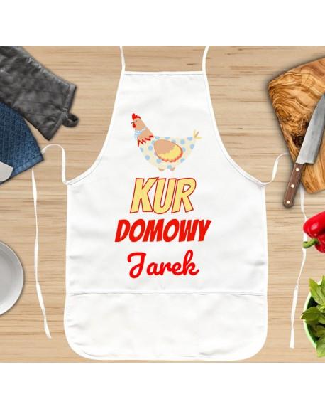 Fartuch kuchenny Kur Domowy - personalizowany prezent dla Niego