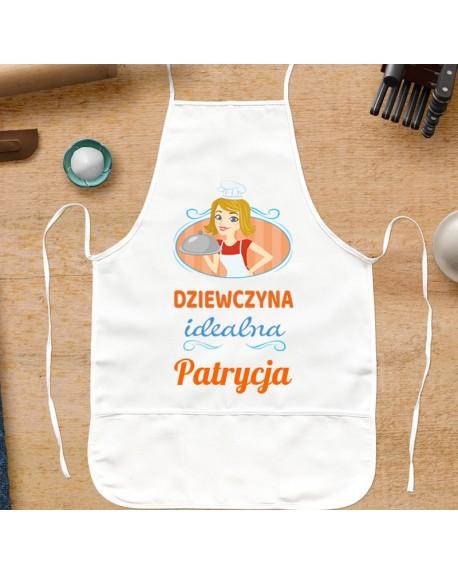 Fartuszek kuchenny dla Dziewczyny - Dziewczyna Idealna - personalizowany prezent