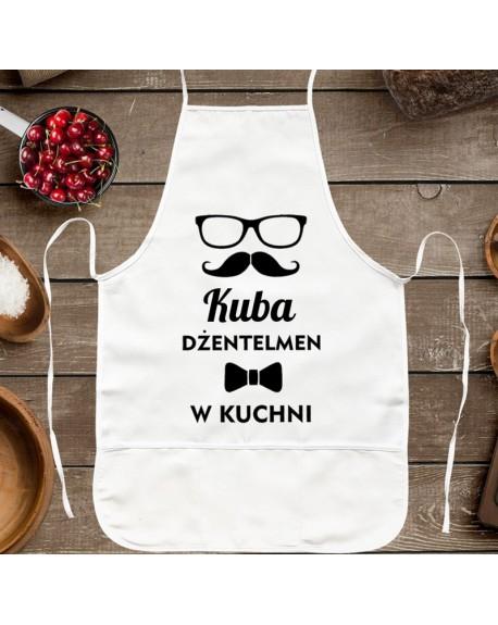 Fartuszek kuchenny Dżentelmen w kuchni - prezent dla Niego