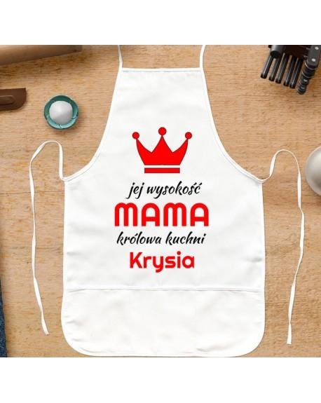 Fartuch kuchenny prezent dla Mamy - Jej Wysokość MAMA - personalizowany