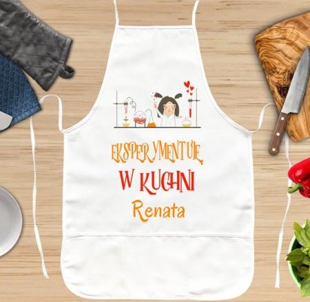 Fartuch kuchenny na prezent dla Kobiety - Eksperymentuję w kuchni