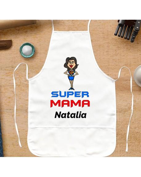 Fartuch kuchenny SUPER MAMA - personalizowany prezent