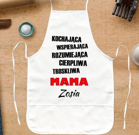 Fartuszek kuchenny da Mamy - PRZYMIOTNIKI - personalizowany prezent
