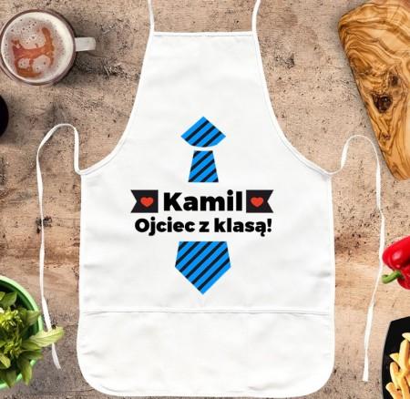 Fartuch kuchenny prezent dla Taty - Ojciec w Kuchni - personalizowany