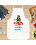Fartuch kuchenny dla Ojca - Super Tata - personalizowany prezent