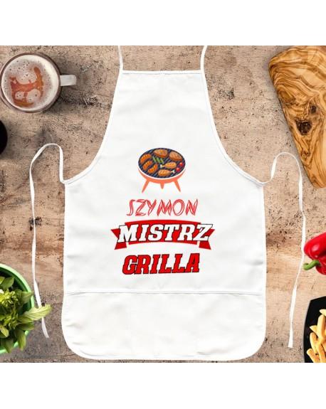 Fartuch kuchenny Mistrz Grilla - personalizowany prezent