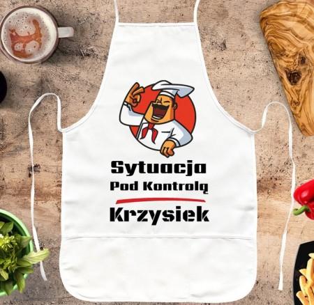 Fartuch kuchenny Sytuacja Pod Kontrolą - śmieszny prezent personalizowany
