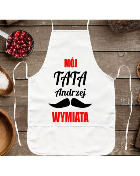 Fartuch kuchenny personalizowany prezent dla Taty - Mój Tata Wymiata