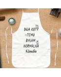 Fartuch kuchenny prezent dla Niej - Dwa Koty Temu Byłam Normalna