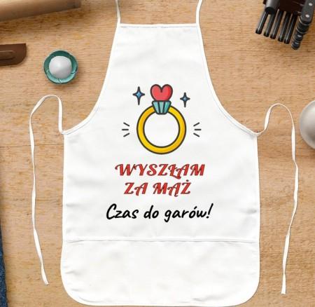 Fartuch kuchenny dla niej Wyszłam za Mąż... - personalizowany prezent