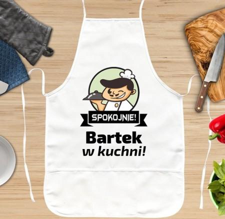 Fartuch kuchenny dla Niego - Spokojnie - personalizowany prezent