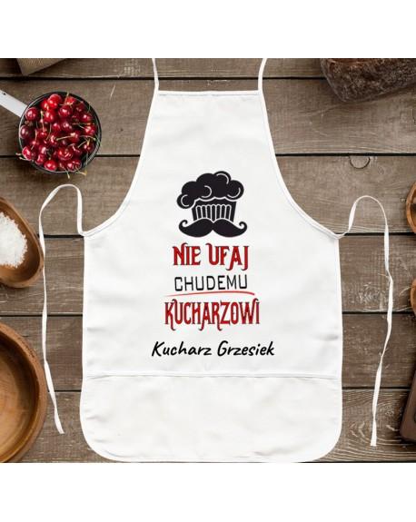 Fartuch kuchenny Nie Ufaj Chudemu Kucharzowi - prezent