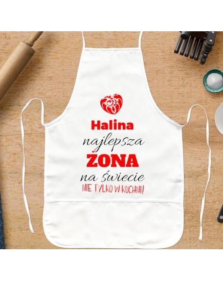 Fartuch kuchenny dla Żony - Najlepsza Żona - personalizowany prezent