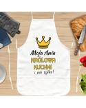 Fartuch kuchenny Królowa Kuchni - personalizowany prezent dla Niej