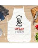 Fartuch kuchenny dla Dżentelmena - prezent dla faceta