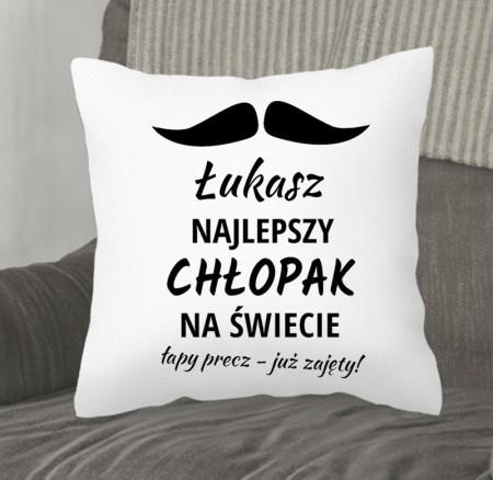 Poduszka dla Chłopaka - Najlepszy Chłopak - prezent personalizowany