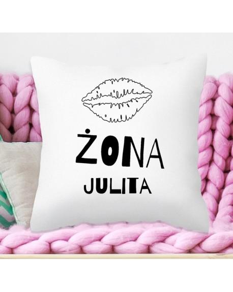 Poduszka na personalizowany prezent dla Żony