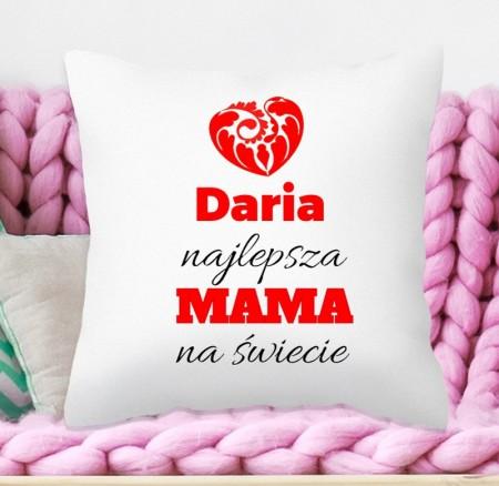 Poduszka dla Mamy - Najlepsza Mama - prezent personalizowany