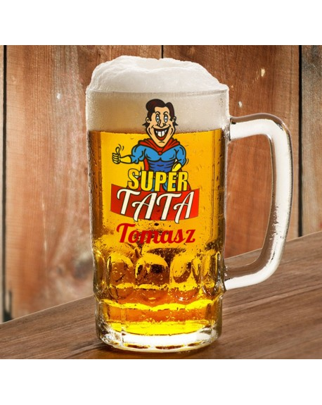 Kufel dla Ojca - Super Tata - prezent personalizowany