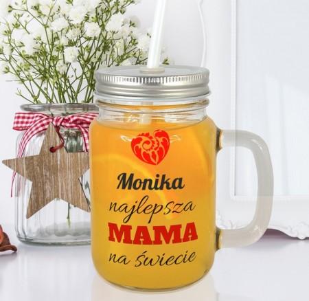 Słoiczek na prezent dla Mamy - Najlepsza Mama - personalizowany