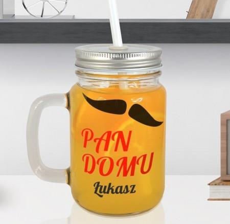 Słoiczek do picia Pan Domu - personalizowany prezent na parapetówkę