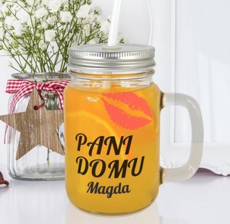 Słoiczek do picia Pani Domu - personalizowany prezent na parapetówkę