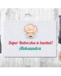 Deska do krojenia Super Babeczka - personalizowany prezent