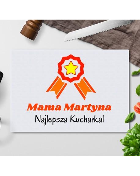 Deska do krojenia Mama Najlepsza Kucharka - personalizowana