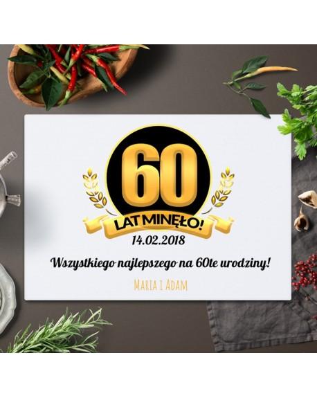 Deska do krojenia prezent na 60 urodziny