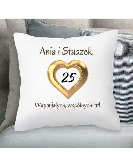 Poduszka spersonalizowany prezent na Rocznicę Ślubu