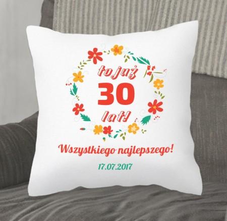 Poduszka prezent na Rocznicę lub Urodziny - personalizowana