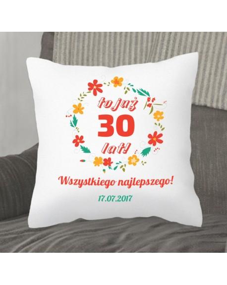 Poduszka prezent na Rocznicę - personalizowana