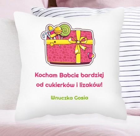 Poduszka prezent dla Mamy, Babci - personalizowana