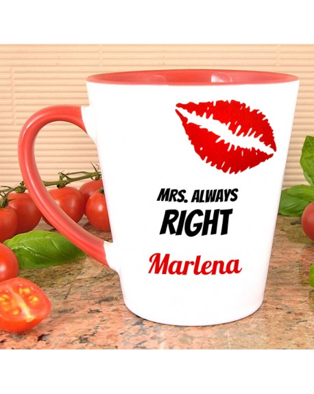Kubek Latte MRS Always Right - prezent personalizowany