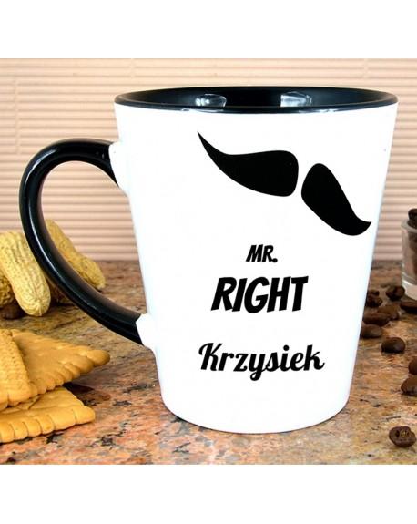 Kubek Latte MR. RIGHT - personalizowany prezent