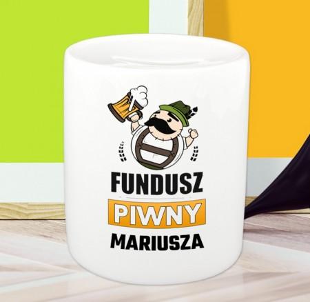 Skarbonka personalizowana Fundusz Piwny - z imieniem