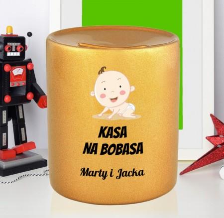 Skarbonka na prezent dla młodych rodziców - Kasa na Bobasa