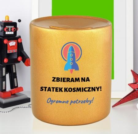 Skarbonka Zbieram Na Statek Kosmiczny - prezent