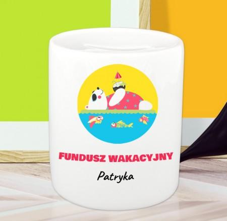 Skarbonka Fundusz Wakacyjny - personalizowany prezent